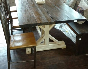 Handmade Rustic Farmhouse Dining Table