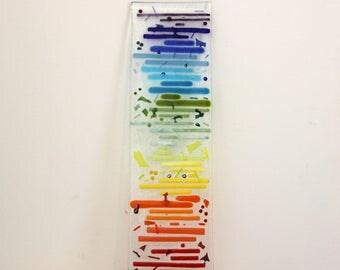 art - home - unique - Rainbow - piece glass - fused glass - decorative craft
