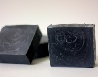 Organic Handmade Activated Charcoal Detox Facial Soap Peppermint Scented