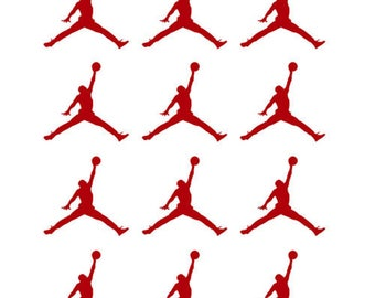 Set of 12  Jordan Jumpman Stickers Decals Vinyl, Air Jordan Jumpman Logo Vinyl Sticker Decal