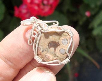 rustic jewelry  jasper pendant
