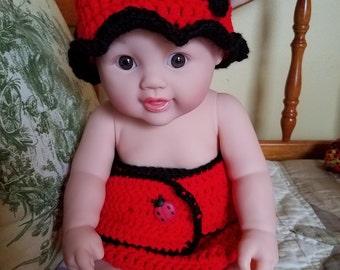 Ladybug diaper set