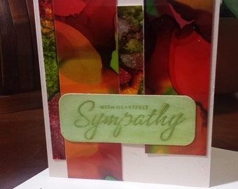 Handmade With Sympathy Card, Handcrafted With Sympathy Card, With Sympathy Card