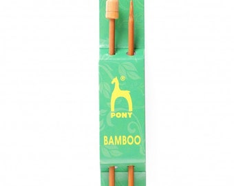 Pony 5.00 mm Bamboo Needles - 33 cm