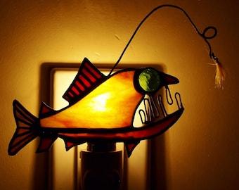 Rainbow Trout Angler Night Light