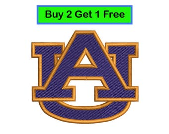 Auburn Tigers, еmbroidery design, logo embroidery, INSTANT download machine embroidery pattern.