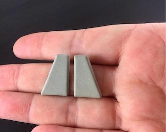 Geometric Concrete Earrings, Concrete Earrings, Concrete Studs, Geometric Earrings, Stud Earrings, Concrete Jewelry, Cement Earrings