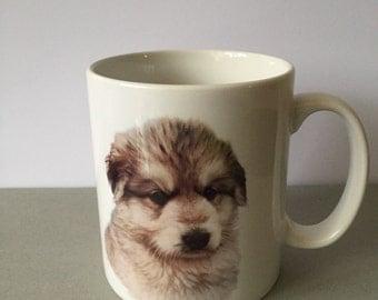 German Shepherd Puppy Mug named 'Oscar' (Design on both sides)