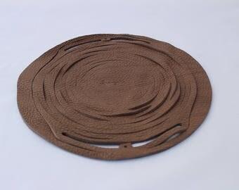 Grained leather Bourbon NET