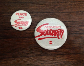 Vintage Buttons from the Solidarity Movement 1984