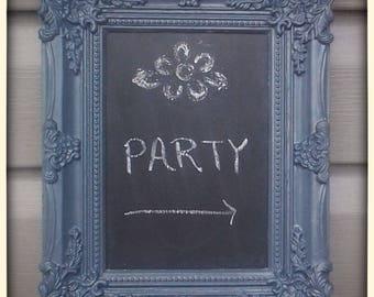 Framed chalkboard, Chalkboard frame, Plastic frame, Chalkboard, Frame, Decorative frame