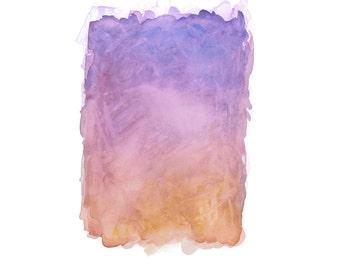 16 x 20 Print - COLOR #2 - Abstract Minimalist Watercolor Print