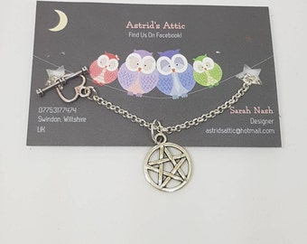 Silver Plated Pentagram Necklace