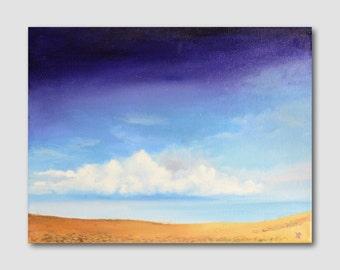 Seascape Sky and Beach Oil Painting