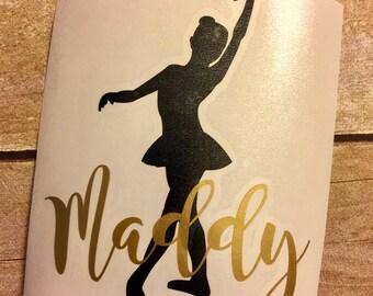 Dance decal / Ballet monogram / ballerina monogram/ ballerina girl / dance decal / dancer decal/  dance monogram / car decal / car sticker