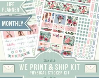 EC Monthly Kit, June Planner Stickers, Boho Planner Stickers, Boho Tribal Sticker, Monthly Kit, ECLP June, Erin Condren Planner, 17039
