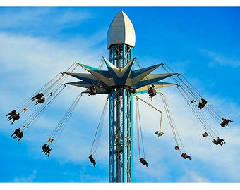 Winter Wonderland - Giant Swing - Hyde Park - Fairground Ride - Hyde Park - London - Photographic Print - Fine Art Print - Fun Fair Ride