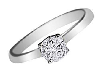 Premium quality white gold diamond engagement ring (0.20 carat)