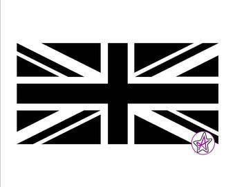 Union Jack UK Flag Vinyl Sticker/Decal