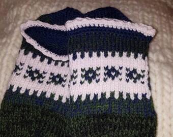 Hand knitted slippers Priglavke size 38