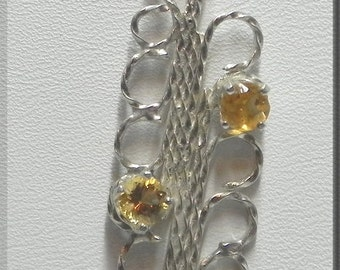 OOAK Handcrafted Citrine/Silver Pendant