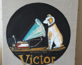 Victor records ad painting