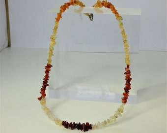Mexican Fire opal 925 Silver Necklace,