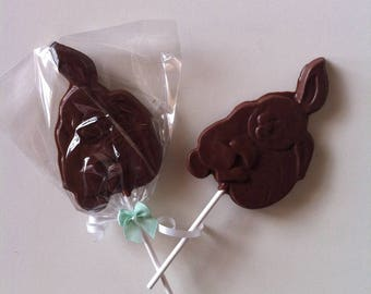 Lollipop Rabbit holding an egg