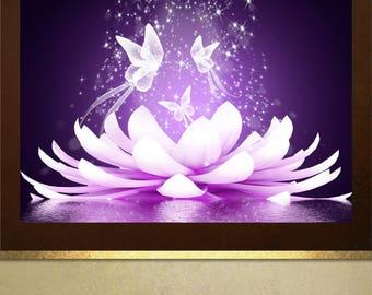 Beautiful Lotus Flower poster print Wall Art in 4 sizes