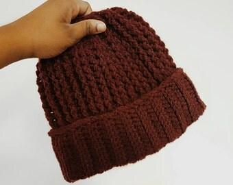 Ridged Crochet Beanie || Custom Made beanie || Cosy Winter Hat