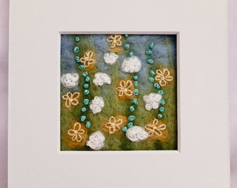 Original felt picture: Little Flowers