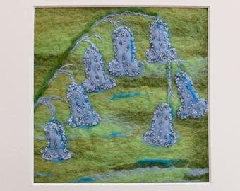 Original Felt Picture: Bluebells