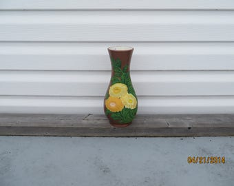 Copper with flowers vase