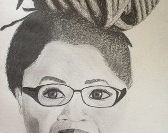 personalized pencil portrait