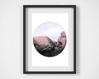 Desert Circle Print, Digital Download, Wall Art, Photography Print, Circle Print