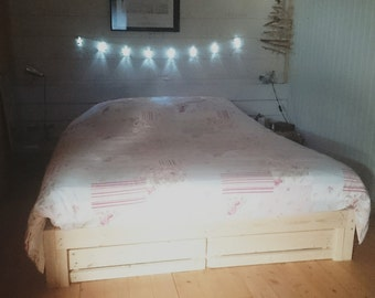 Recycled wooden bed