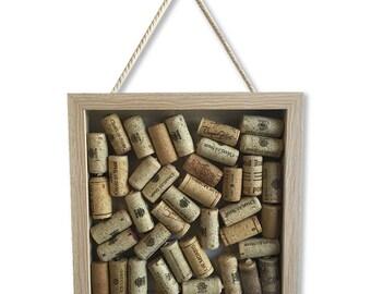 Wine Lover Gift, Wine Cork Shadow Box, Wine Cork Art, Gifts for Wine Lovers, Wine Gifts, Wine Cork Box, Wine Cork Decor, Coworker Gift, Dorm