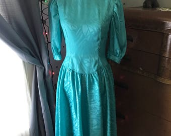 Vintage turquoise 80's Dress