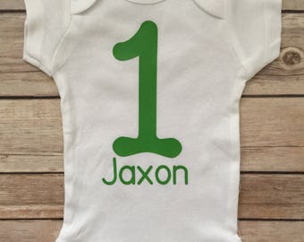 Boy First Birthday Shirt, 1st Birthday Outfit®,  Personalized Boy Onesie®, Boy Birthday ®, Boy Birthday Outfit, Boy Onesie® 1st Birthday