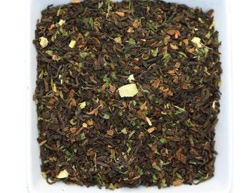 Vanilla Mint Tea - Pu'erh Tea with a Full Earthy Flavor of Vanilla and Mint