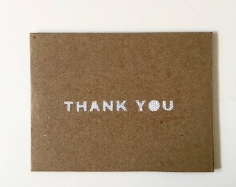 Thank You Cards Greeting Cards Handmade Cards Thank You Notes Thank You Note Set Note Card Set with Envelopes repurposed upcycled paper