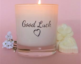 Good luck gift,Best of luck, Best wishes,Moving out gift, scented soy candle.