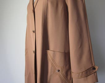 Vintage 60s 70s Ralex Brown Trench Coat - AU 12 - 14 - 16