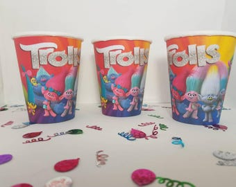 Trolls ' paper cup, birthday decoration, parties