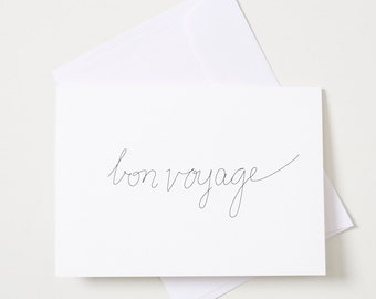 Greeting Card - Script / Bonvoyage