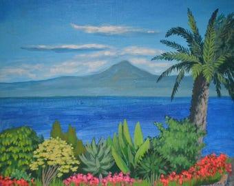 La Gomera, original painting, original landscape painting, original art, painting on canvas, original painting on canvas, modern landscape