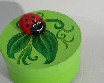 Green Ladybug box