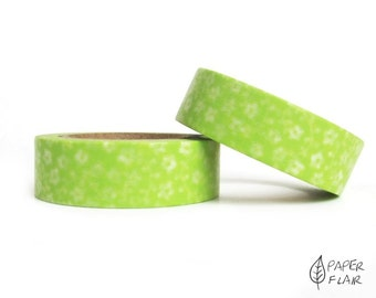 Washi tape green floral (PY-400)