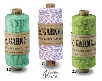 Baker yarn cotton Mint green, Baker's Twine, violets, maigrün45m (G)