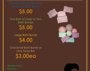Homemade Bath Bombs and Shea Butter Soap